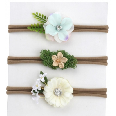 Factory supplier natural style headband kids baby flower hair bands C-hb184